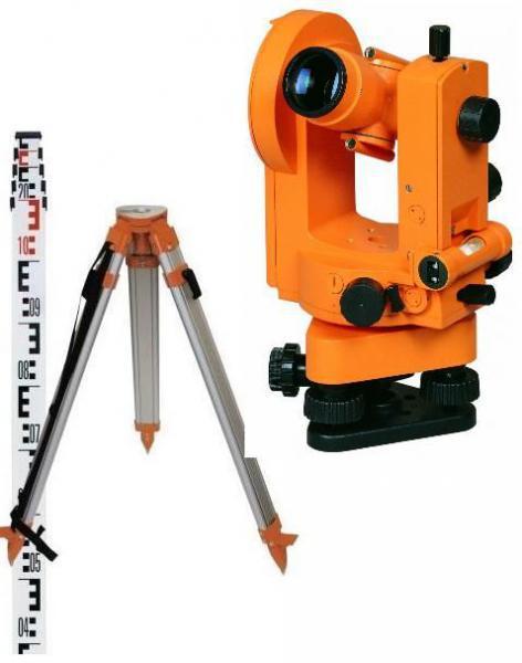 Teodolit optický GT - 20 + stavební stativ a lať