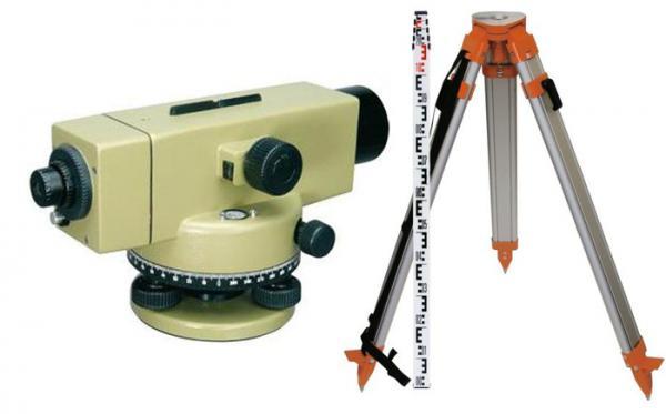 Přesný optický nivelační přístroj sada PNLK32 po vzoru Leica NA2 (stativ, lať)