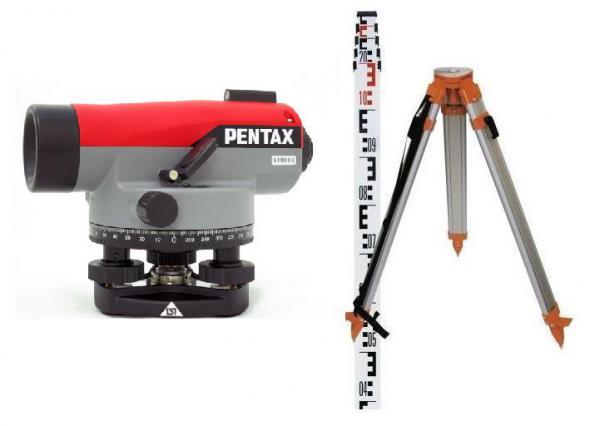 Nivelační přístroj sada Pentax AP-230 (stativ, lať) záruka 3 roky