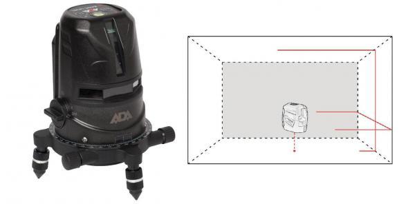 Křížový laser ADA 2D Profi Basic Level