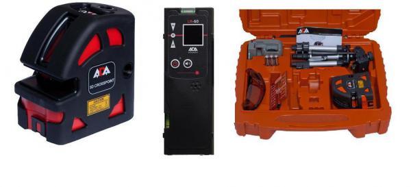 Křížový a bodový laser ADA 5D Crosspoint Set + přijímač