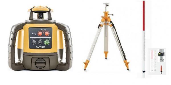 Rotační laser Topcon RL-H4C sada - stativ s klikou, lať