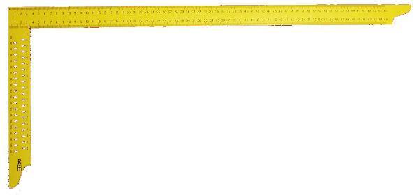 Úhelník tesařský žlutý Hedü Y072 s otvory
