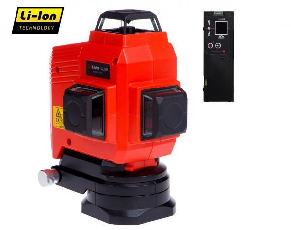 Křížový laser ADA TOPLINER 3 x 360 + přijímač