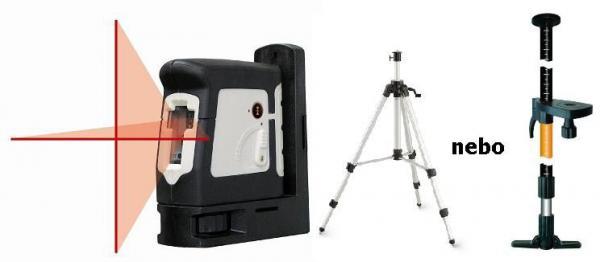 Křížový laser AutoCross 2 + stativ s klikou nebo rozpěrná tyč